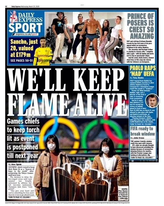 شمس طوكيو تغرب في صحف إنجلترا