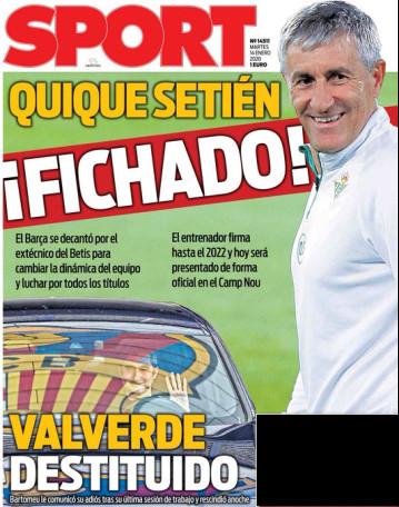 اهتمام كبير من الصحافة الإسبانية بتعين كيكي سيتين مدرباً لبرشلونة