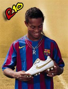 رونالدينهو والحذاء الذهبى