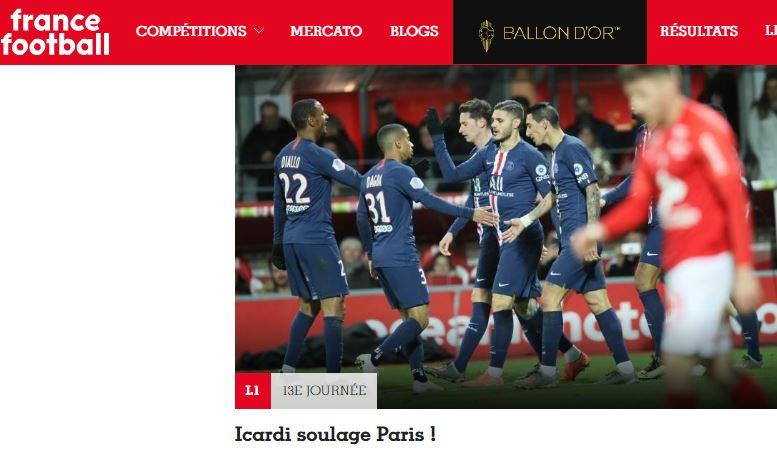 إيكاردي يحلق في سماء صحف فرنسا 101119-3