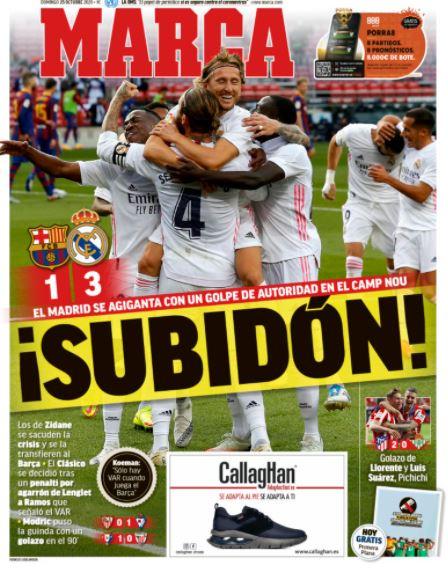 الصحف الكتالونية تتشح بالسواد عقب خسارة الكلاسيكو A826